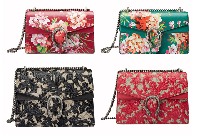 The New Style Replica Gucci Dionysus Shoulder Bag in Blooms Print and Arabesque