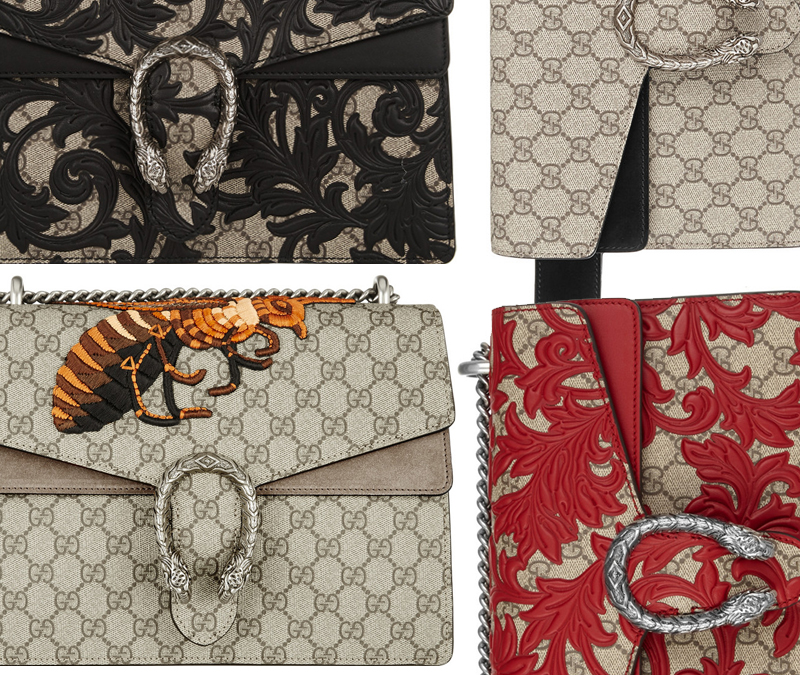 Replica Gucci Dionysus GG Supreme Shoulder Bag Collection