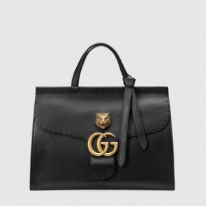 Best Gucci GG Marmont leather top handle bag replica