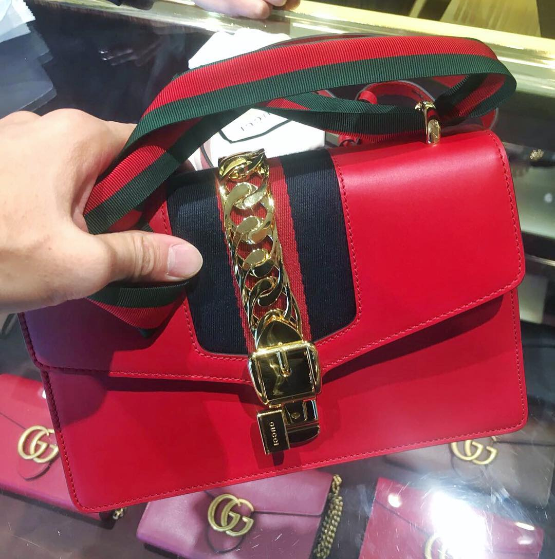 Best Replica gucci sylvie leather shoulder bag for sale