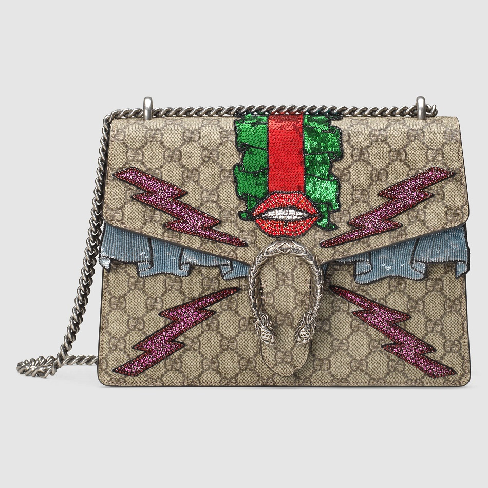Best GUCCI Dionysus GG Supreme Embroidered Bag Replica Bag