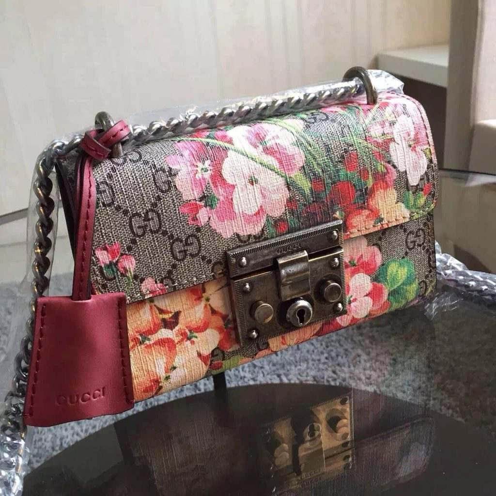Best Gucci Padlock Blooms Shoulder Bag Replica