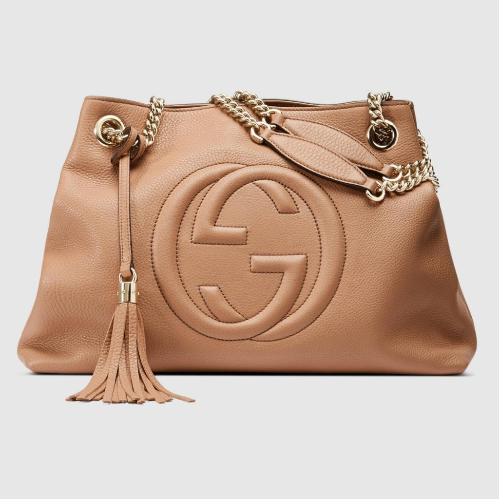 Best quality dark brown gucci soho shoulder bag replica