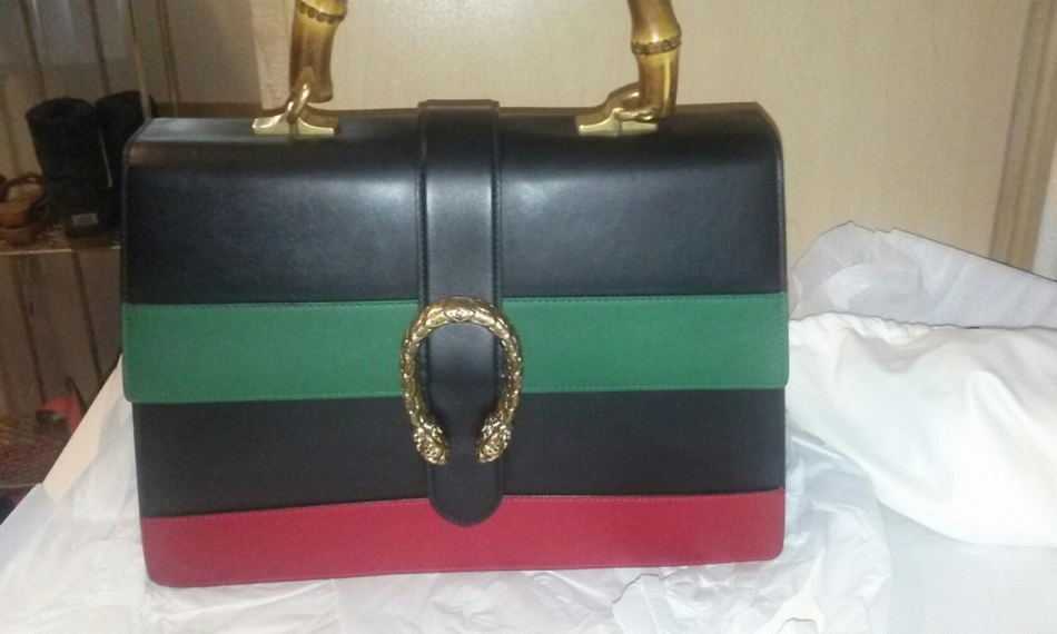 Best Gucci Dionysus Striped Bamboo Top Handle Bag Replica