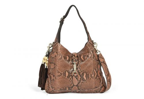 Beige & Brown Python & Leather Gucci New Jackie Hobo Bag Replica