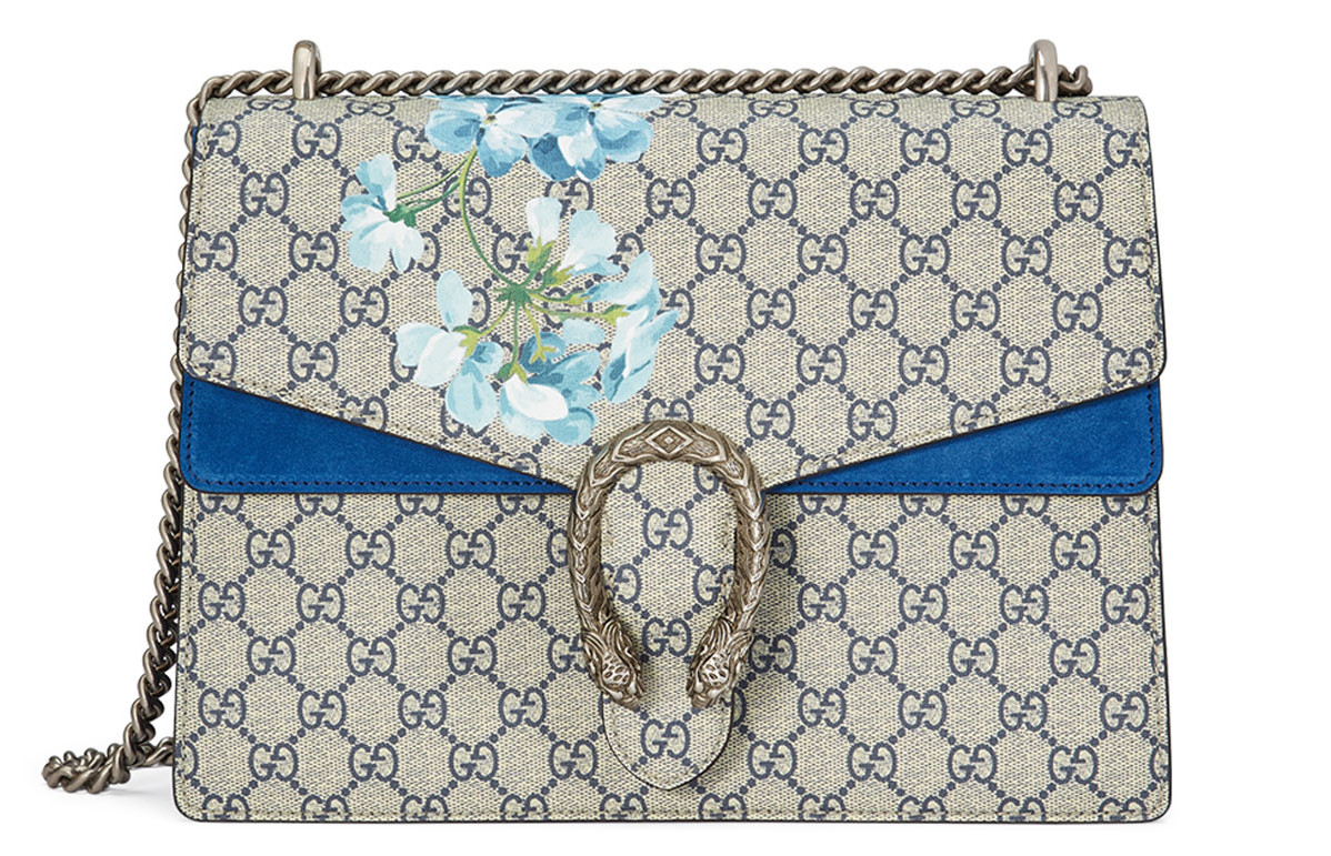 Blue Gucci Dionysus GG Blooms Bag Replica Online Sale