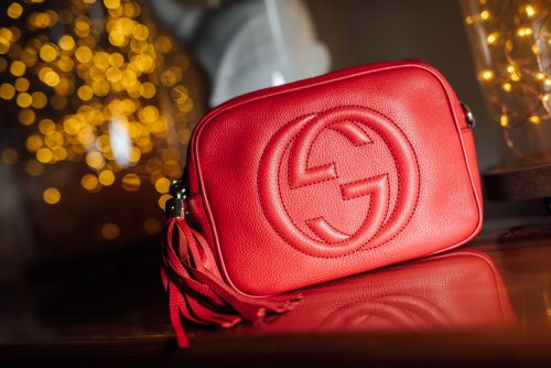 Red Leather Gucci Soho Disco Bag Replica Online
