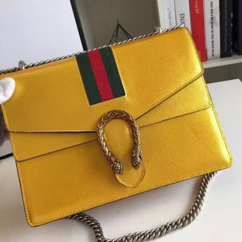 Yellow leather gucci dionysus shoulder bag replica online