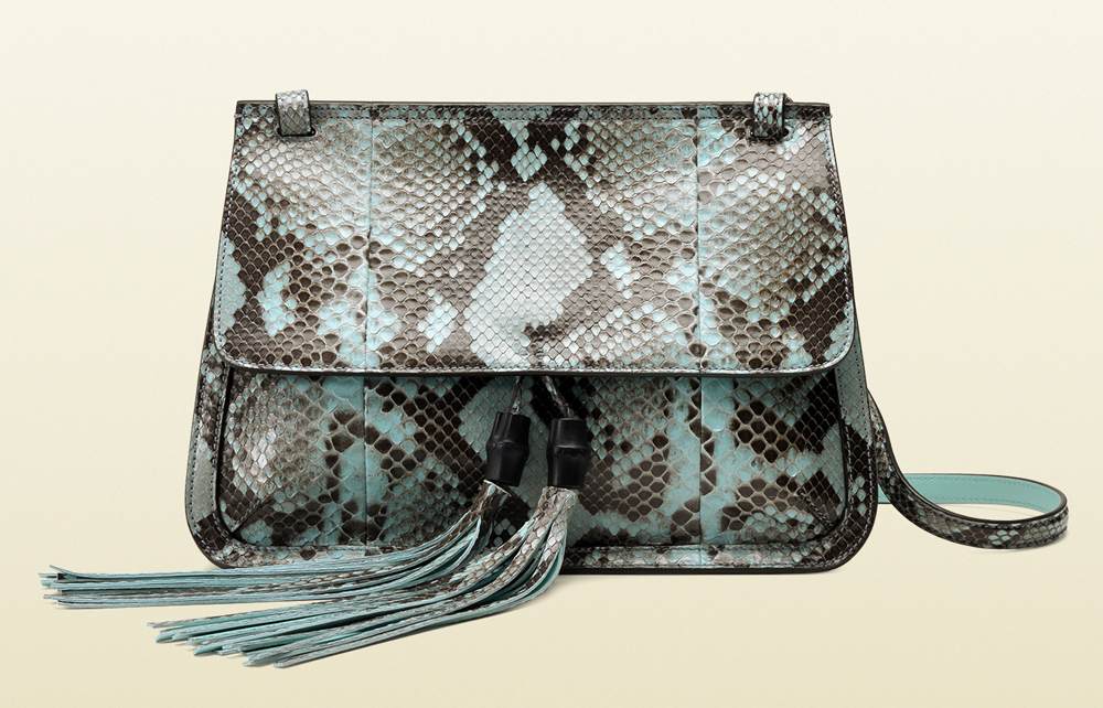 You Should Have The Gucci Bamboo Daily Python Flap Shoulder Bag Replica