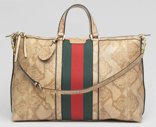 Best Quality Gucci Natural Python Duffel Bag Replica For Sale