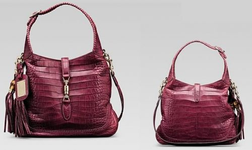 Glamourous Cherry Crocodile Leather Gucci 1921  Shoulder Bag Replica
