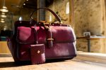 Purple Leather Gucci Lady Stirrup Top Handle Bag Replica For Sale
