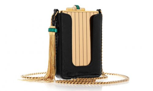 Beautiful Gucci Garcon Gold and Crocodile Clutch Replica For Women