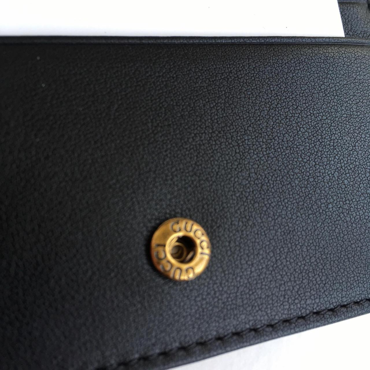 Low Price Replica Bags Gucci                        Black Marmont Gg Card Case Wallet