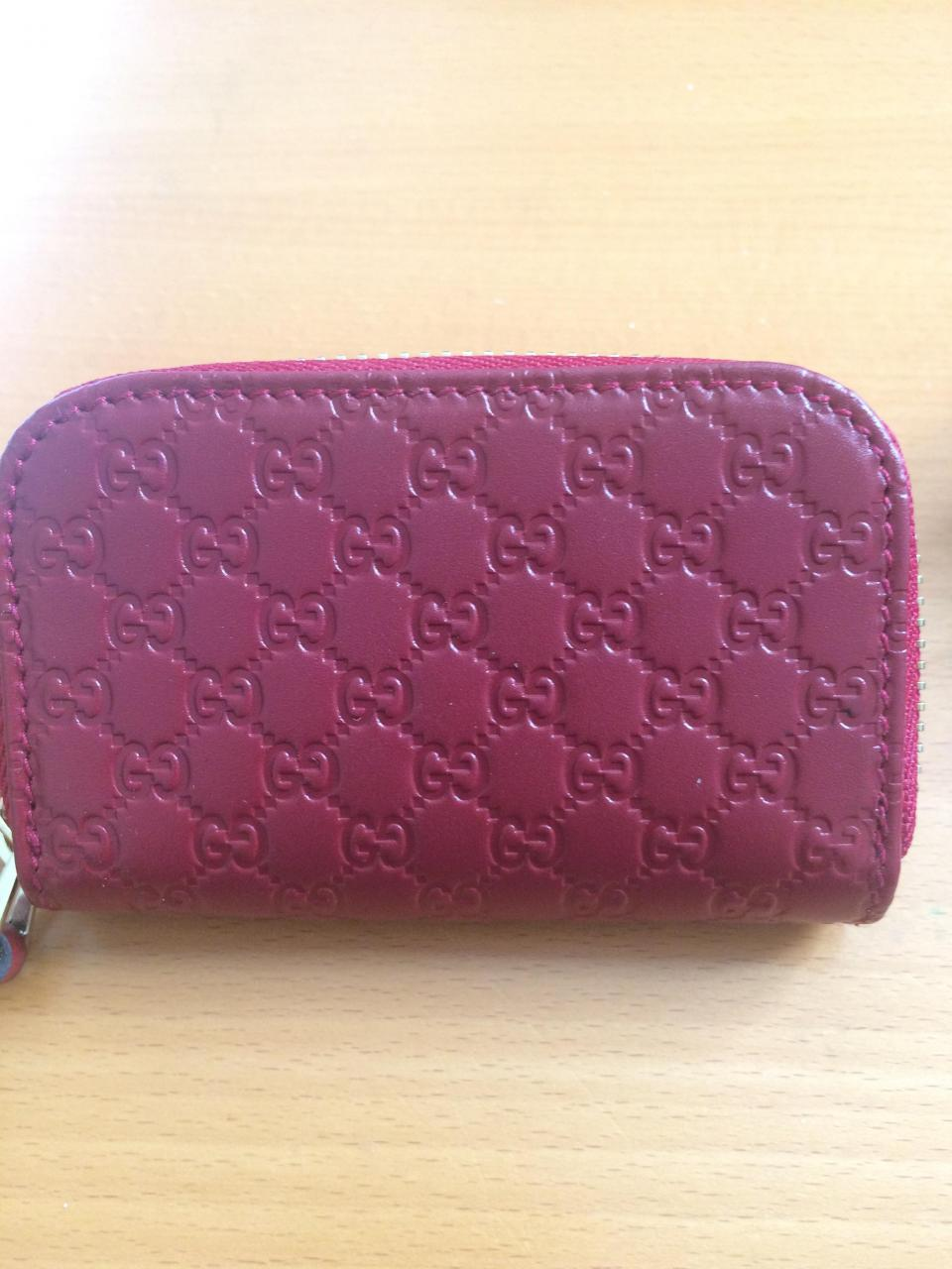 Replica Bags Clearance Gucci                        Dark Red Zip Coin Purse Wallet