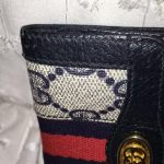 Replica Bags Buy Online Gucci                        Navy Key Case Wallet